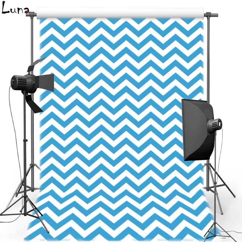 Blue Chevron pattern Vinyl Photography Background Wave Oxford Backdrops for  Children photo studio Props F1001 b9661d5a316d
