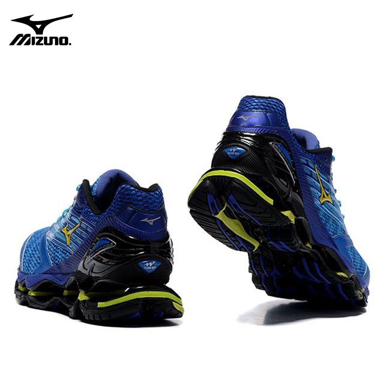 9842645361de ... real mizuno wave prophecy 5 professional men running shoes royal blue  sneakers weight lifting shoes basketball