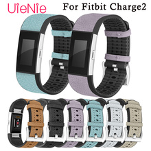 цена на For Fitbit Charge 2 smart watch Bands Leather Replacement Straps Interchangeable Smart Fitness Watch Band For Fitbit Charge 2