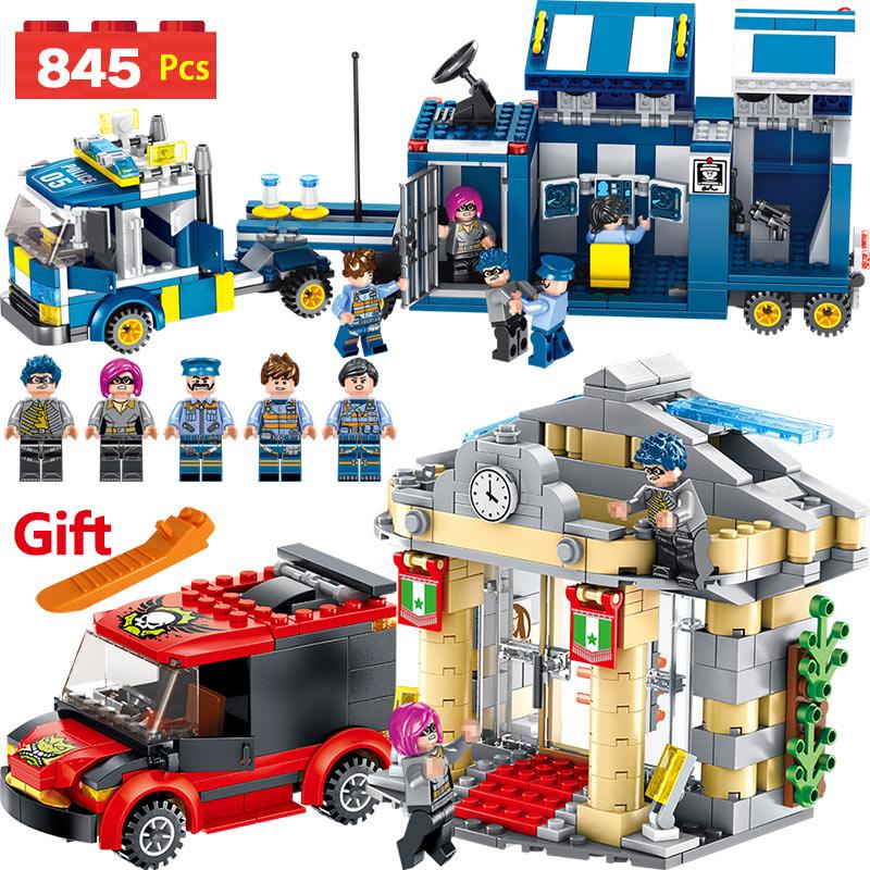 Police Series Set Compatible LegoINGLYS City Pirate Military Blocks Mini Action Figures Bricks Enlightening Toys For Children legoinglys military 35pz city police