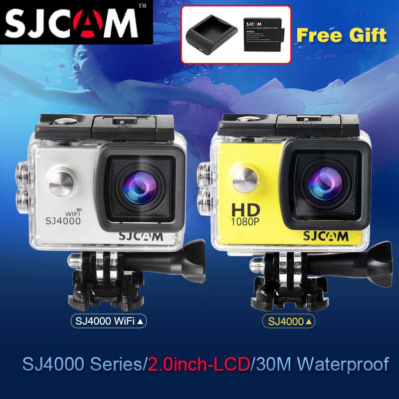 Original SJCAM SJ 4000 Series SJ4000 & SJ4000 WIFI 2.0 Action Camera Waterproof Camera 1080P Full HD Wifi Sport DV  SJ CAM cam other sjcam wifi sj4000 wifi 1080p hd gopro dv 30 original sjcam wifi version sj4000 wifi 1080p full hd gopro camera