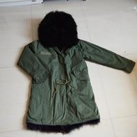 2016 wholesale real fur hood long jacket fox fur lining parka women winter outerwear coats