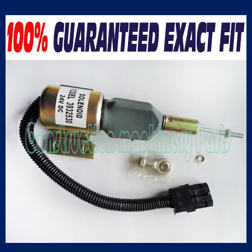 Diesel Engine Shut Off Solenoid 3932530 SA-4756-24 For Cummins 5.9L 6BT Excavator 3924450 2001es 12 fuel shutdown solenoid valve for cummins hitachi