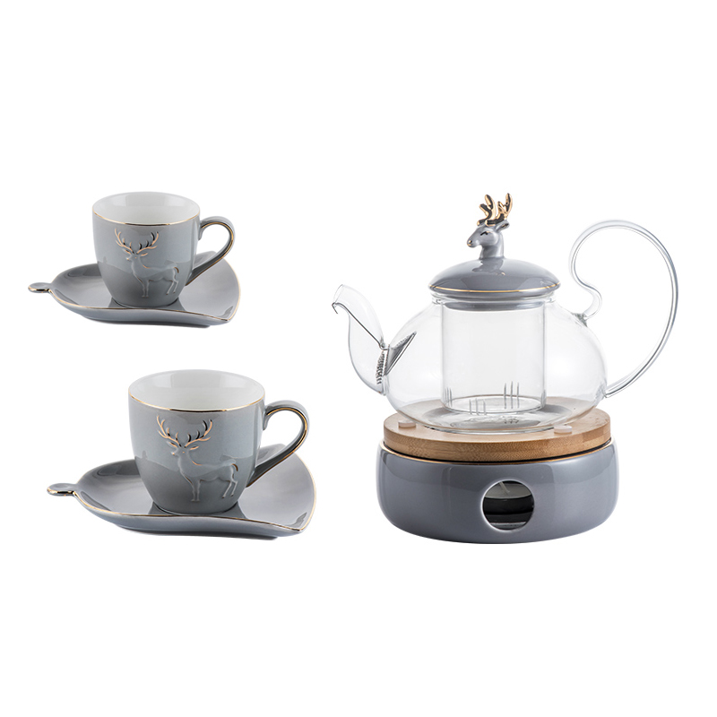 Théière en verre résistant à la chaleur nordique, thé à bulles, ensemble de thé, thé anglais de l'après-midi, thé aux fruits à ébullition, boisson maison