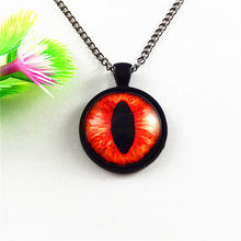4pc/lot Creative Man Chain Necklace Gift Bright Dragon Eye of Horus Bronze Jewelry 25mm Charm Jewelry Fashion Women Craft GR-156(China)