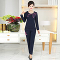Fashion 2 Pieces Set Women Plus velvet warm Sets Plus Size Printing Leisure Fashion Loose Women Pants And Tops