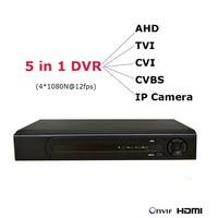 5 In 1 DVR For AHD TVI CVI CVBS IP Cameras NVR 1080P HDMI IP Network