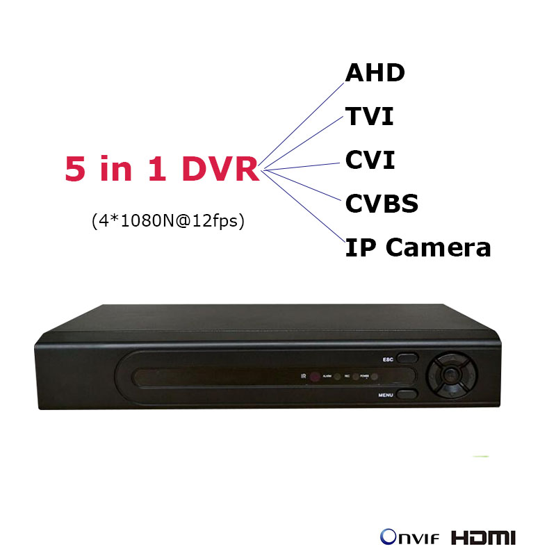 5 in 1 mini DVR for AHD, TVI, CVI, CVBS, IP Cameras NVR 1080P IP Network Surveillance Video Recorder Onvif 4CH NVR CCTV Recorder 8channel dvr 1080p hybrid xvr 16ch for ahd h cvi tvi camera p2p ip recorder onvif network cvr mini nvr h 264 for 2mp ip camera