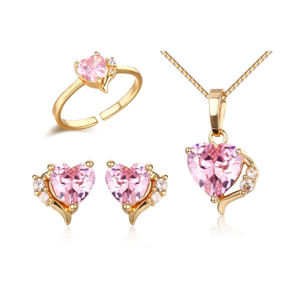 18K Gold Filled Earrings Zircon Gems Peach Leaf Hollow Ear Hoop Stud Party SW