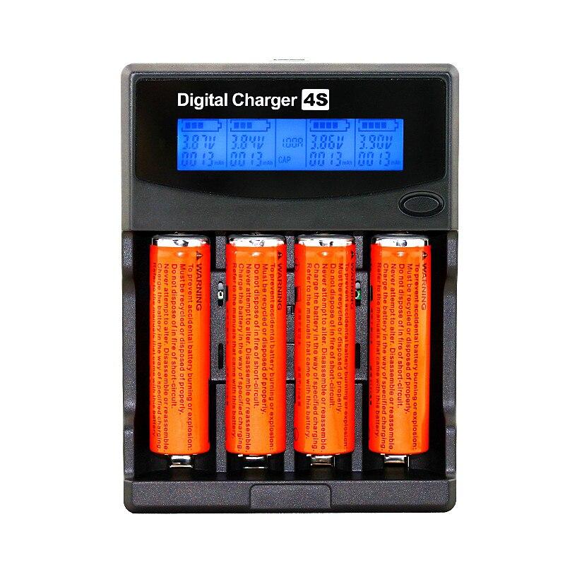 Test di Capacità Della Batteria Lcd 3.7 v/1.2 v Aa/aaa 18650/26650/16340/14500/ 10440/18500 Battery Charger Con Schermo + 12v2a Adattatore 5v1a