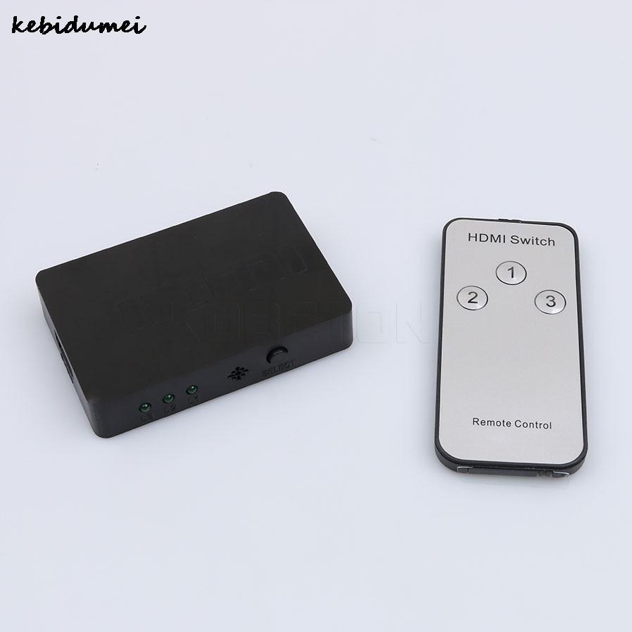 Dynamisch Kebidumei 3x1 Mini Hdmi Splitter 3 Port Hub Box Signalgeber Mit Fernbedienung Ausgang Hdmi Switcher 3d 1080 P Hd Für Hdtv Xbox Computer-peripheriegeräte