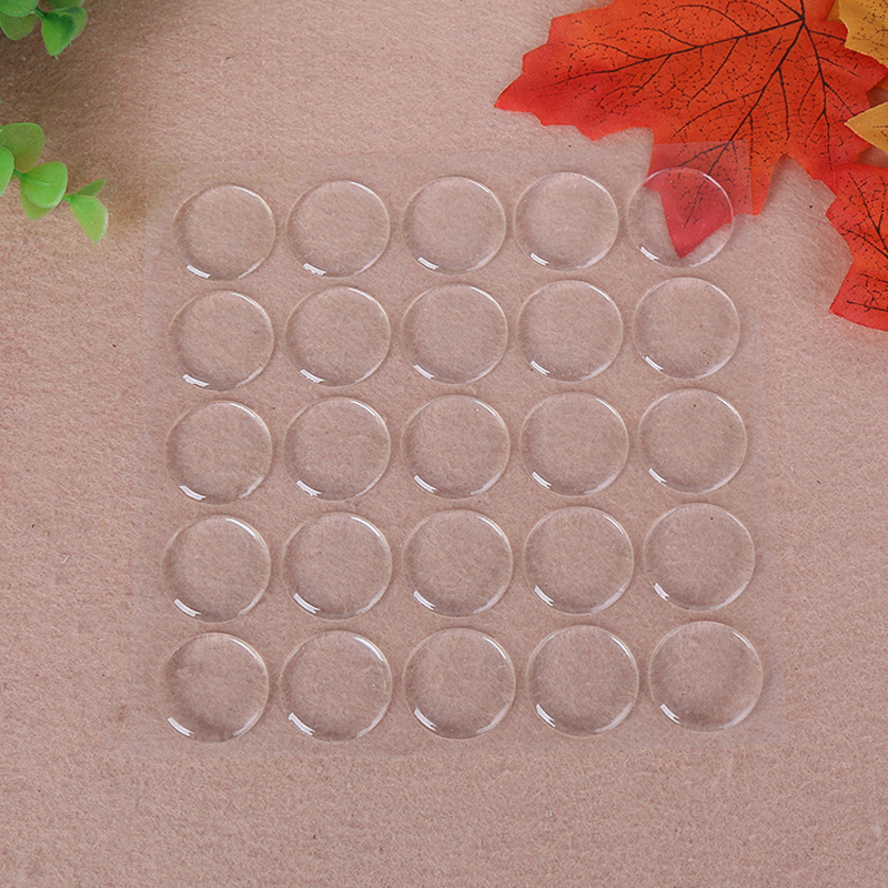 Vovotrade 50pcs Round 3D Crystal Clear Epoxy Adhesive Circles Bottle Cap Stickers Resin Patch Dots For Bottle Caps Crafting DIY