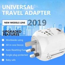 Универсальный адаптер MAXAH для путешествий с быстрой зарядкой 3,0 AU EU US адаптер для путешествий в Великобританию с usb-портом быстрое зарядное устройство