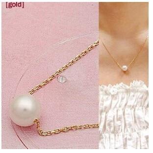 NK1023 горячая Распродажа модные милые двухслойные имитация жемчуга шар подвеска в виде капельки ожерелья Дешевые ювелирные изделия для ключицы для женщин