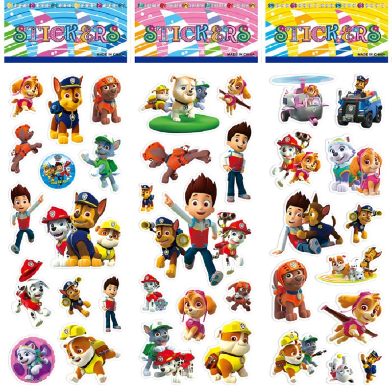 New Paw Patrol Dog Sticker Toys Patrulla Canina Action Figures Toy Kids Children Toys Gifts