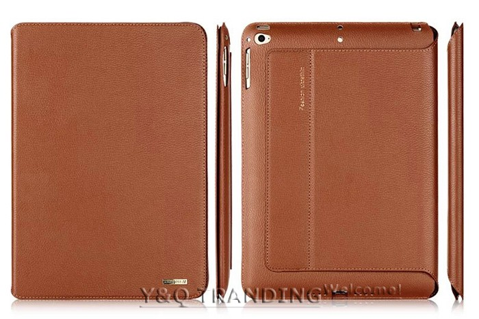 Ultrathin Cowhide Genuine Leather Case for Apple iPad Real Leather Business Stand Smart Cover for iPad  (20)