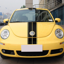 Car Styling Set of Hood Line Bonnet Roof Rear Stripes Sticker Body Decal for Volkswagen Beetle Accessories 2002-2006