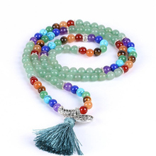 7 Chakra 108 Energy Stone Bracelet 6mm Natural Dongling Healing Stone Yoga Beaded Bracelets Tree of Life Women Fashion Jewelry