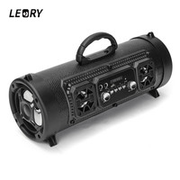 LEORY CH M17 Portable Outdoor Bluetooth Speaker Wireless Multifunctional TF Card Surround Sound Speaker with Microphone
