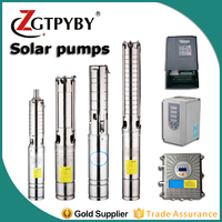 4FLA4 100 2.2 pompe solaire submersible pump high pressure water pump 380v ac solar dc stainless steel centrifugal solar pump