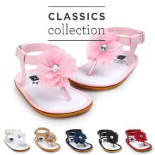 Free shiping baby girl shoes flower sandals  soft bottom first walkers infant lebron baby shoes for age 0~18mont TX40