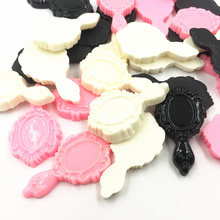 10Pcs Mixed Cameo Cabochon Decoration Mirror Resin Flat Back Fashion Jewelry DIY Findings 43mm