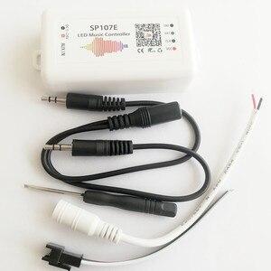 Image 2 - LED Bluetooth SP107E pikseli IC SPI muzyka kontroler LED przez aplikacja na telefon dla WS2812 SK6812 SK9822 RGBW APA102 LPD8806 taśmy DC5 24V