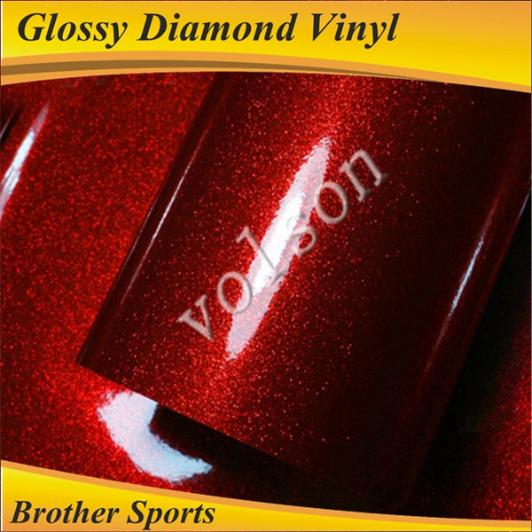 High Quality Glossy Diamond Red Whole Car Body Wrap Paint And Color Changing Sticker