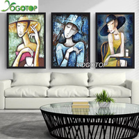 Diy Diamond Painting Cross Stitch Full Needlework Home Decorative 3D Round Diamond Embroidery Beauty Of Smoking