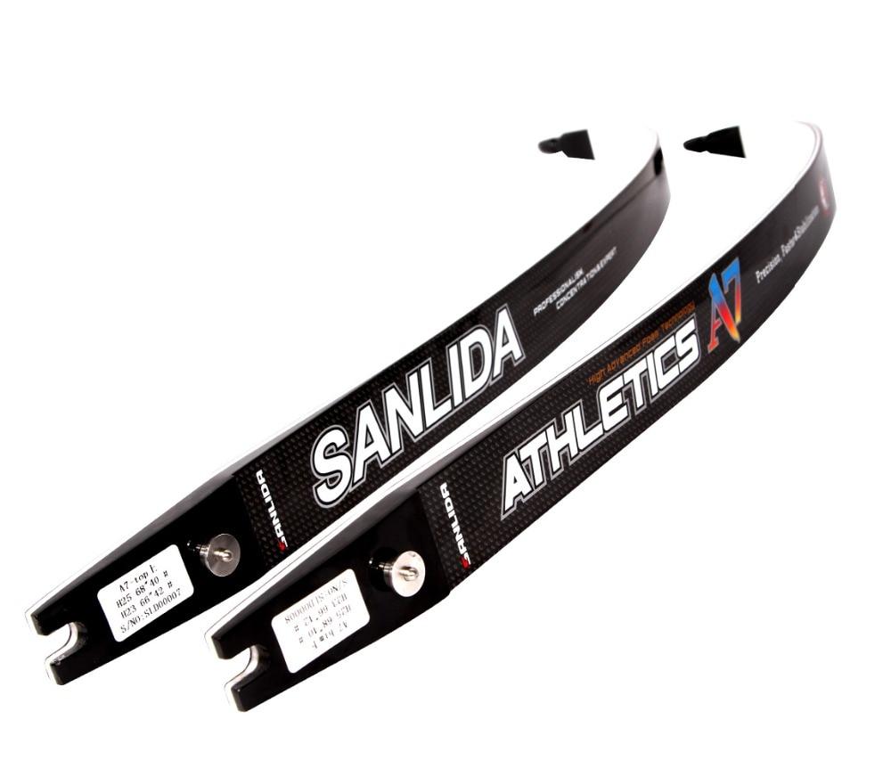 Sanlida A7 High-End ILF Recurve Bow Limbs, ILF Limbs S Carbon Fiber & Graphite Foam, 20-44 LBS Shooting Outdoor Sports