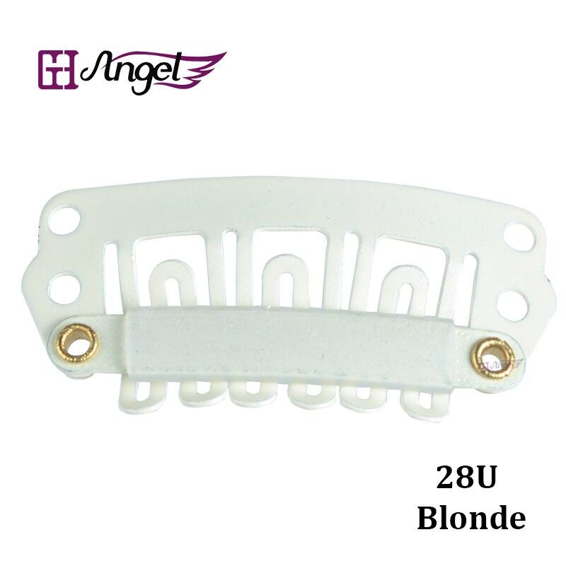Charlie's Angels, 500 шт., 28 мм, u-образный зажим для волос, металлические зажимы с силиконовой спинкой для наращивания волос на заколках, инструменты для салона, зажимы