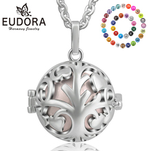 Eudora Harmony Ball Tree of life Pendant Jewelry Baby Chime Sound Bola Necklace Angel Caller with 20MM K301