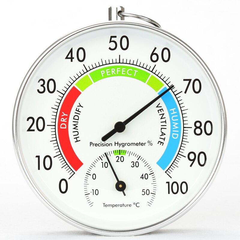 Pouces Cadran Thermomètre Hygromètre Boîtier En Aluminium Suspendu Intérieur dans Température Jauges de Maison & Jardin