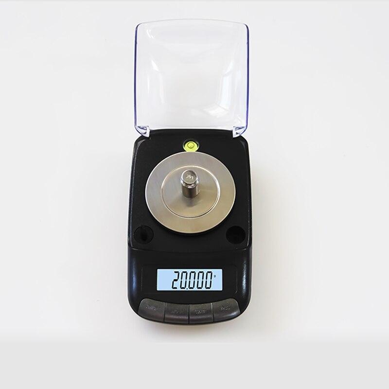 Balance électronique portative de bijoux de précision de 0.001g 20g/0.001 Balance de pesage de poche médicale de germe d'or de diamant - 5