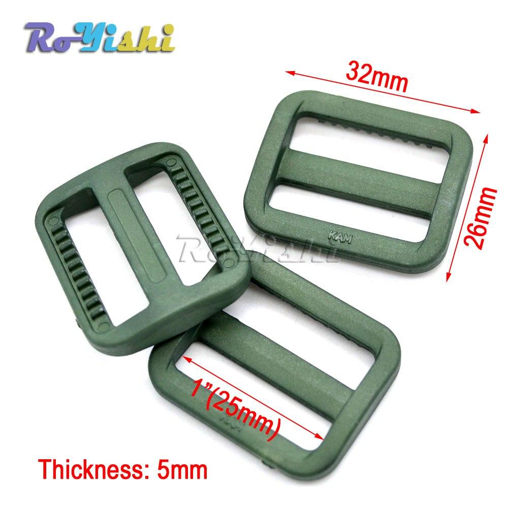 1000pcs/pack 1 (25mm)Colorful Triglides Adjust Buckle For Dog Collar Harness Backpack Strap - 4