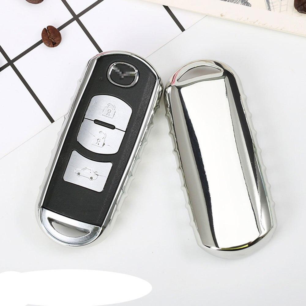 Original Design Bright Colorful Soft TPU Car Key Cover Case fit for Mazda 2 3 5 6 2017 CX-4 CX-5 CX-7 CX-9 CX-3 CX 5 Accessories