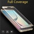 Para samsung galaxy s7 edge cobertura total curva 3d ultra thin protector de pantalla de cristal templado para galaxy s7 edge s6 edge plus