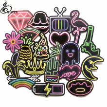 21pcs/lot neon light style cute stickers For Suitcase Laptop guitar Cool Doodle DIY decoration Sticker High Quality PVC Decal(China)
