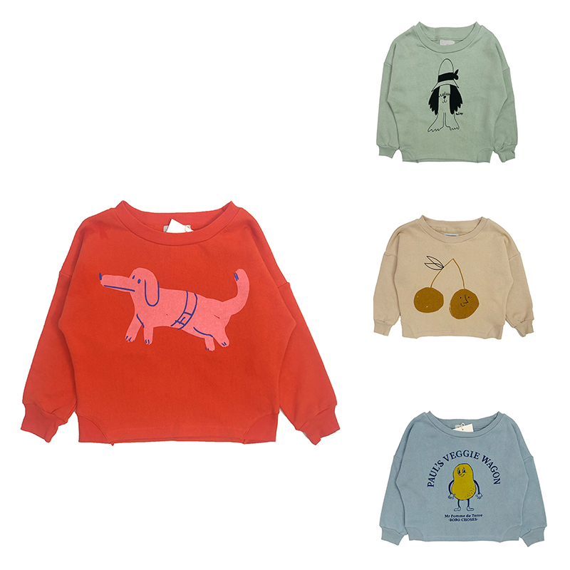On Stock! Kids Sweaters 2019 Spring BC Brand Boys Girls Cartoon Sweatshirts Baby Children Cotton New Fashion Tops Clothes image