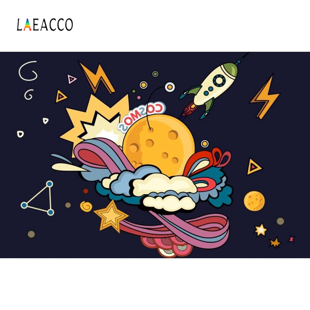 Laeacco Cartoon Super Hero Comics Baby Boy Portrait Photography Backgrounds Customized Photographic Backdrops For Photo Studio