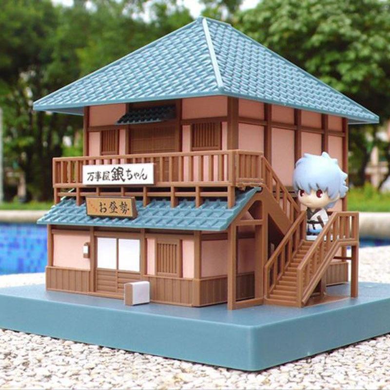 Anime Gintama Yorozuya House Action Figure Model Toys