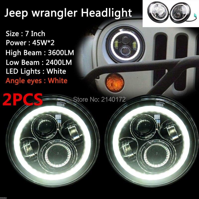 black halo платье футляр prismatic 7INCH Halo Angel eyes LED Projector Headlight Black 40W LED Headlamp for 07-15 JK Jeeps Wrangler