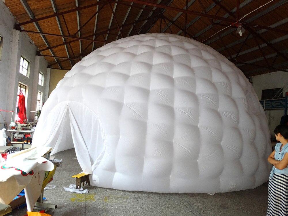 Tienda de campaña inflable interior blanco exterior negro con forma - 4