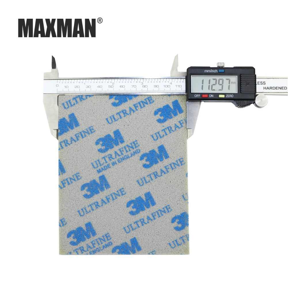MAXMAN 3 m éponge papier de verre 600 #800 #1000 # meulage et polissage fil dessin abrasif outil accessoires poli à la main un paquet