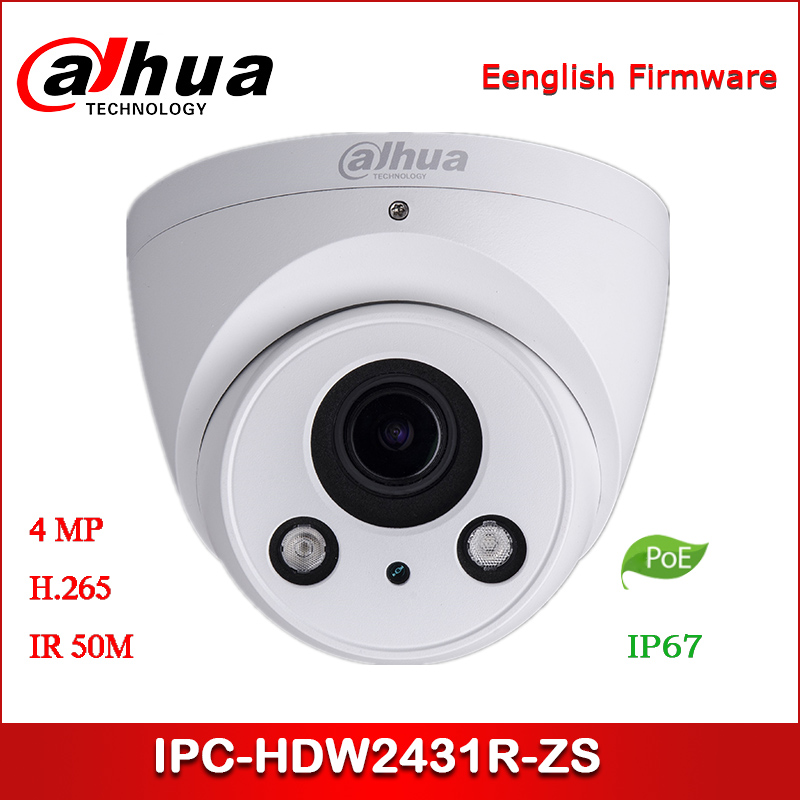 Dahua IP Camera IPC-HDW2431R-ZS 4MP 2.7~13.5mm Varifocal Lens WDR IR Eyeball Network Camera Security Camera
