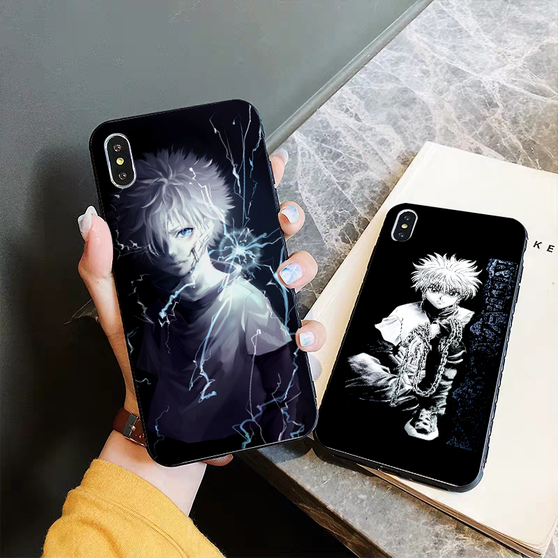 Lavaza Hunter X Hunter Anime Coque Silicone Case for iPhone 5 5S 6 6S Plus 7 8 11 Pro X XS Max XR in Half wrapped Cases from Cellphones Telecommunications