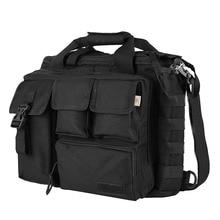 Porte documents de sacs à main de sac de messager dépaule de voyage militaire des hommes Pro multifonction grand pour 14