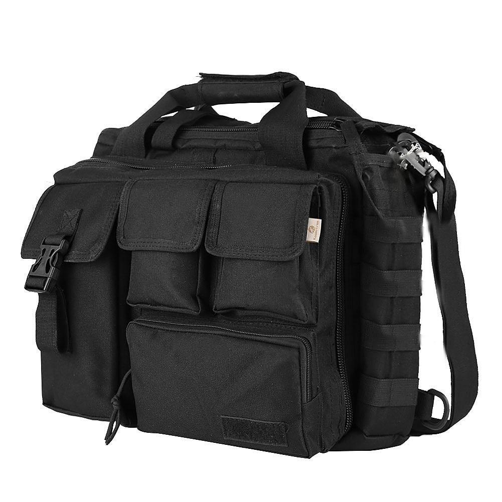 Pro- Multifunction Mens Military Travel Shoulder Messenger Bag Handbags Briefcase Large For 14''