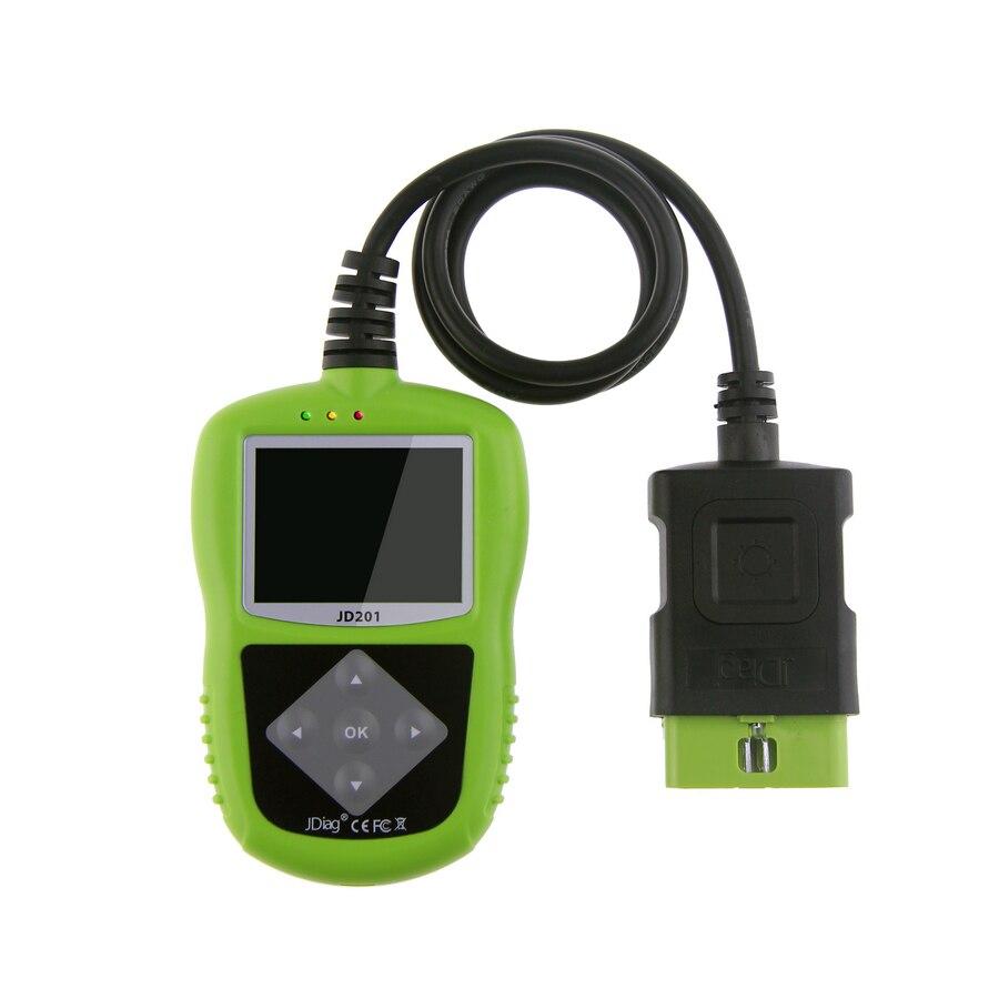 Цена за 2017 jdiag JD201 код читателя с Цвет Экран для OBDII/EOBD/может автомобильной JD 201 сканер же funtion как запуск X431 AL319