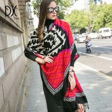 Bufanda de marca de lujo, capa de Cachemira, Poncho de lana, bufandas de moda de invierno y chales, Pashmina de Cachemira, pañuelo de protección facial musulmán